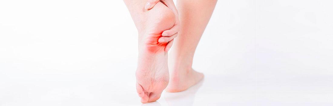 Fascitis plantar, dolor en la planta del pie